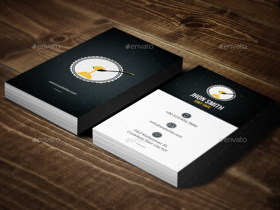 chef cafe business card by awns