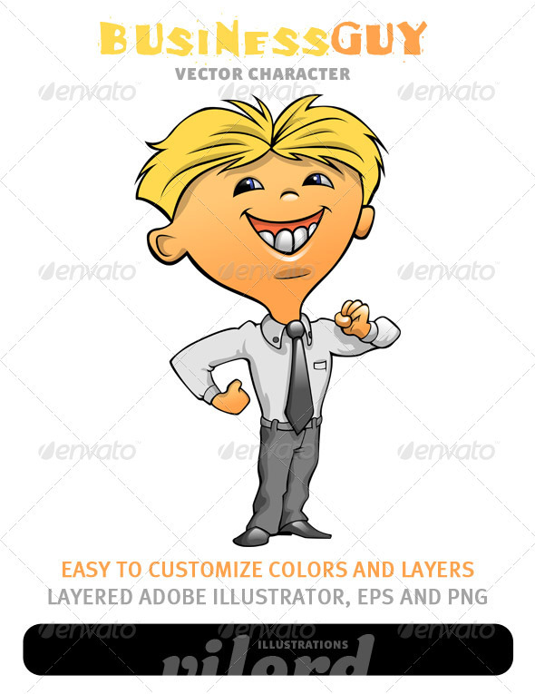 Business Guy Mascot - People Characters