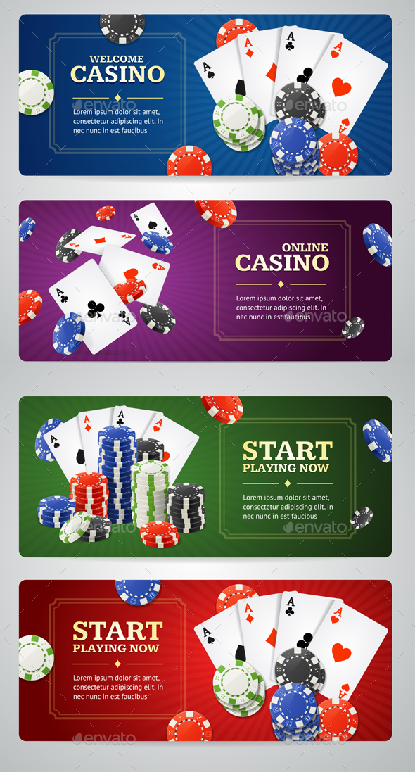 Poker Casino Banner Set - Miscellaneous Vectors