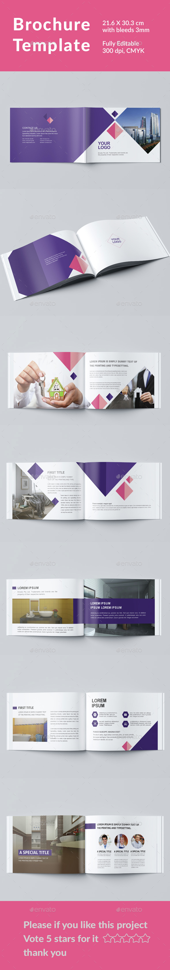 Brochure Template - Magazines Print Templates
