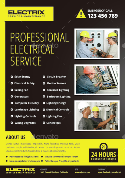 Electrician Flyer By Monggokerso
