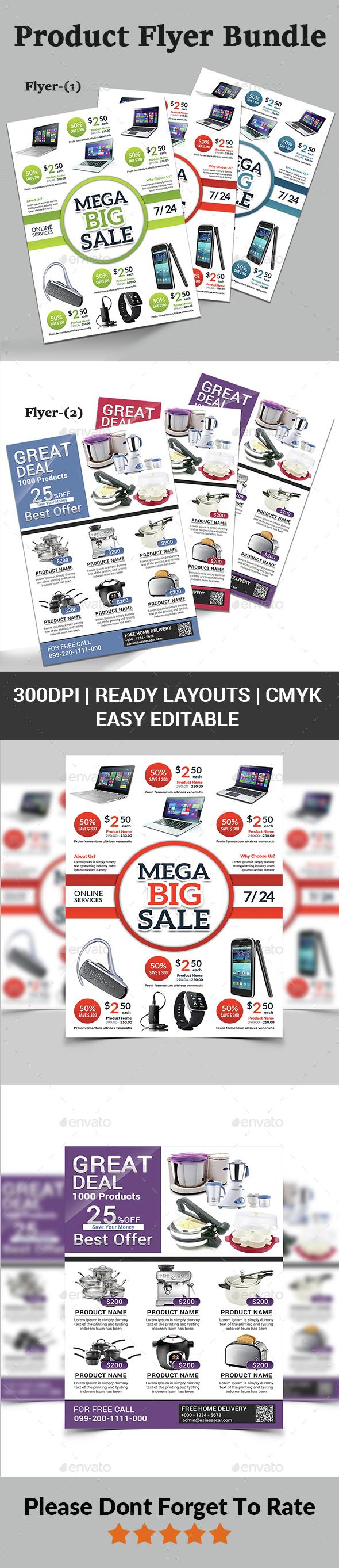 Product Promotion Flyer Bundle - Corporate Flyers