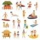 Beach Flat Set - GraphicRiver Item for Sale
