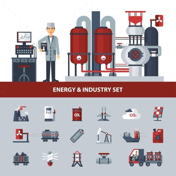 Energy and Industry Set - Industries Business