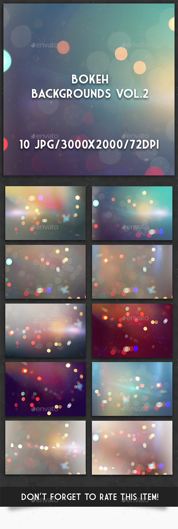Bokeh Backgrounds Vol.2 - Abstract Backgrounds