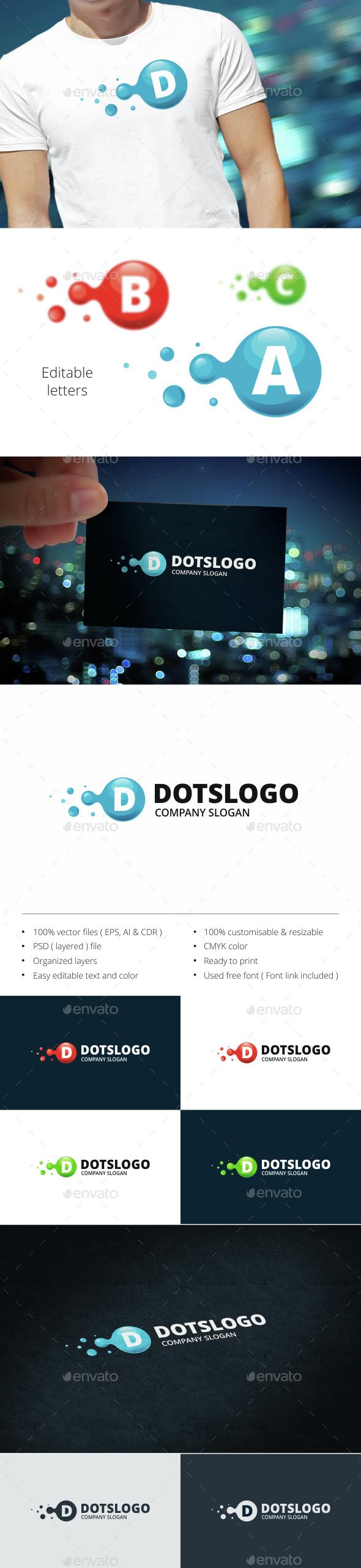 Molecule - Letters Logo Templates