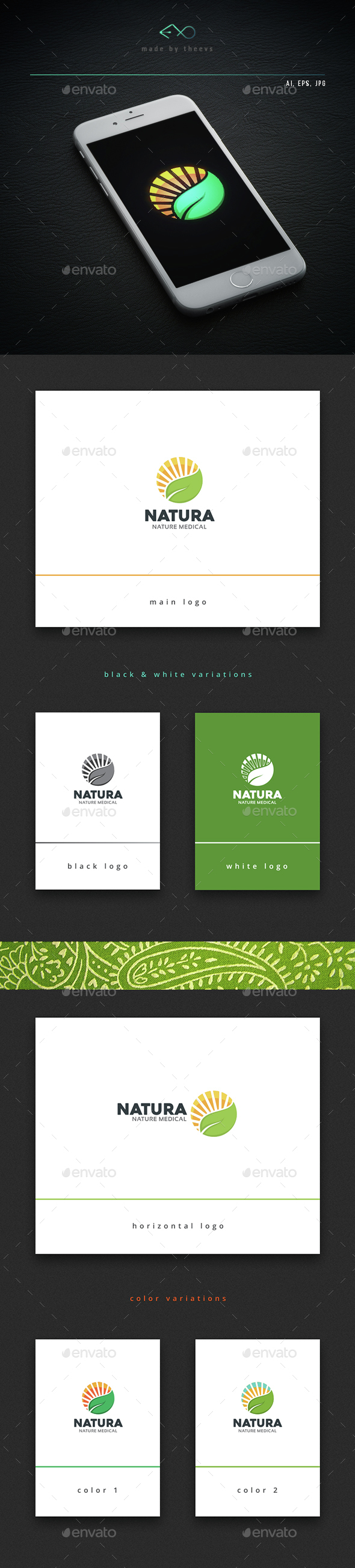Natura - Nature Logo Templates
