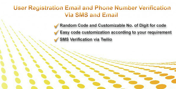 User Registration With Email and Phone Number Verification - CodeCanyon Item for Sale