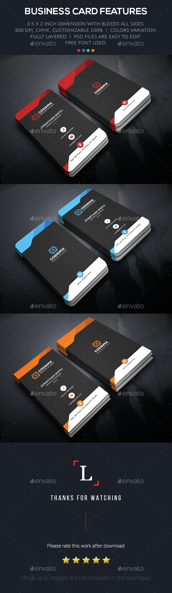 Shape Creative Business Card - Business Cards Print Templates