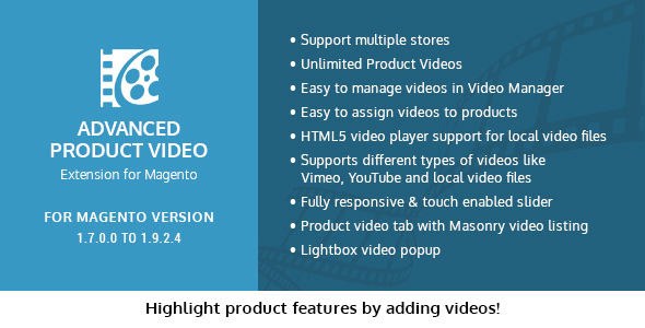 Advanced Product Video Extension for Magento - CodeCanyon Item for Sale