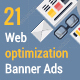 Flat Web Optimizing Banner Ads - GraphicRiver Item for Sale