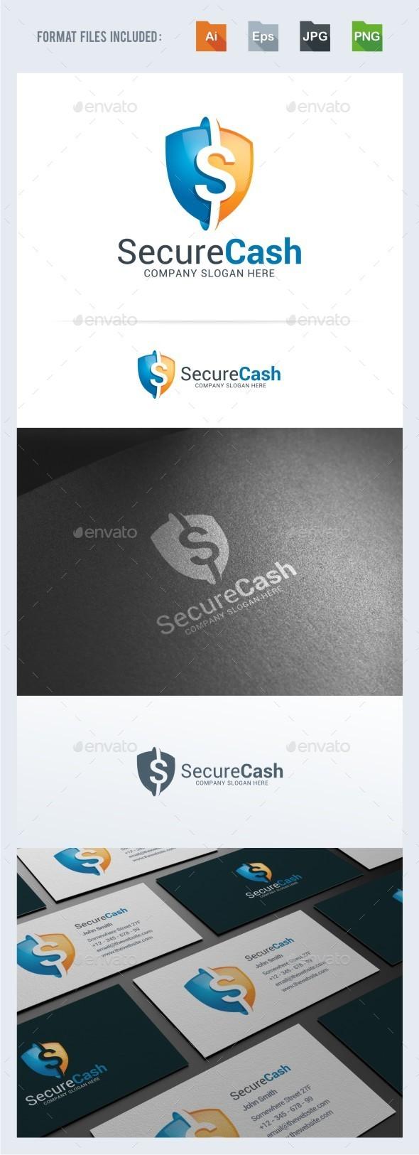 Secure Cash Logo Template - Symbols Logo Templates