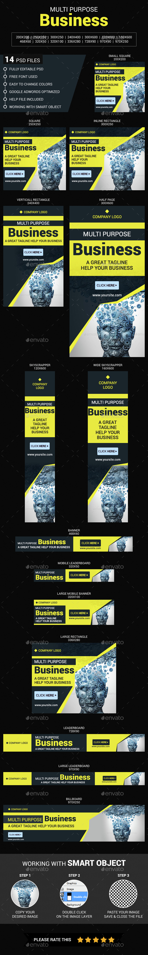 Multi Purpose Business - Banners & Ads Web Elements