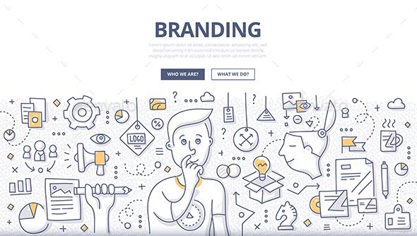 Branding Doodle Concept - Business Conceptual