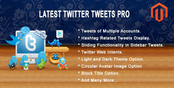 Latest Twitter Tweets Pro Magento Extension  - CodeCanyon Item for Sale