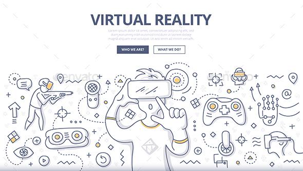 Virtual Reality Doodle Concept - Technology Conceptual