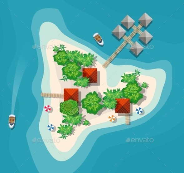Island Paradise View - Landscapes Nature