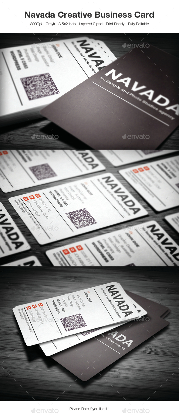 Navada Creative Business Card - Creative Business Cards