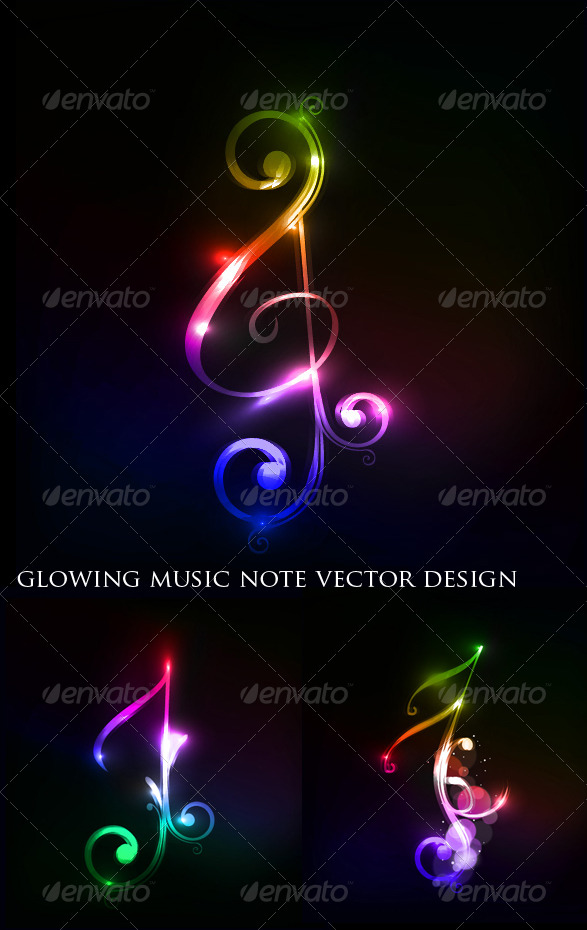 Colorful Music Note - Decorative Symbols Decorative