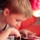 Little Boy Playing On The Tablet Computer Games - VideoHive Item for Sale