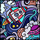 2 Space Doodles Seamless Patterns - GraphicRiver Item for Sale