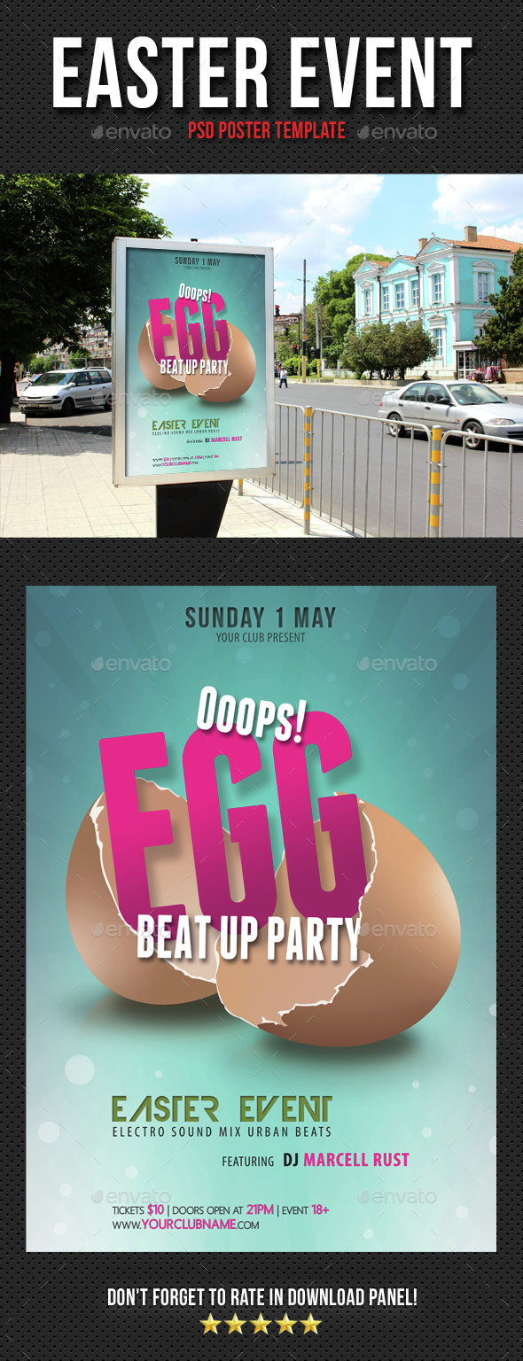 Easter Event Poster - Signage Print Templates