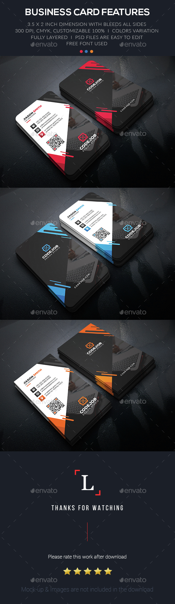 Graphic Corporate Business Card - Business Cards Print Templates
