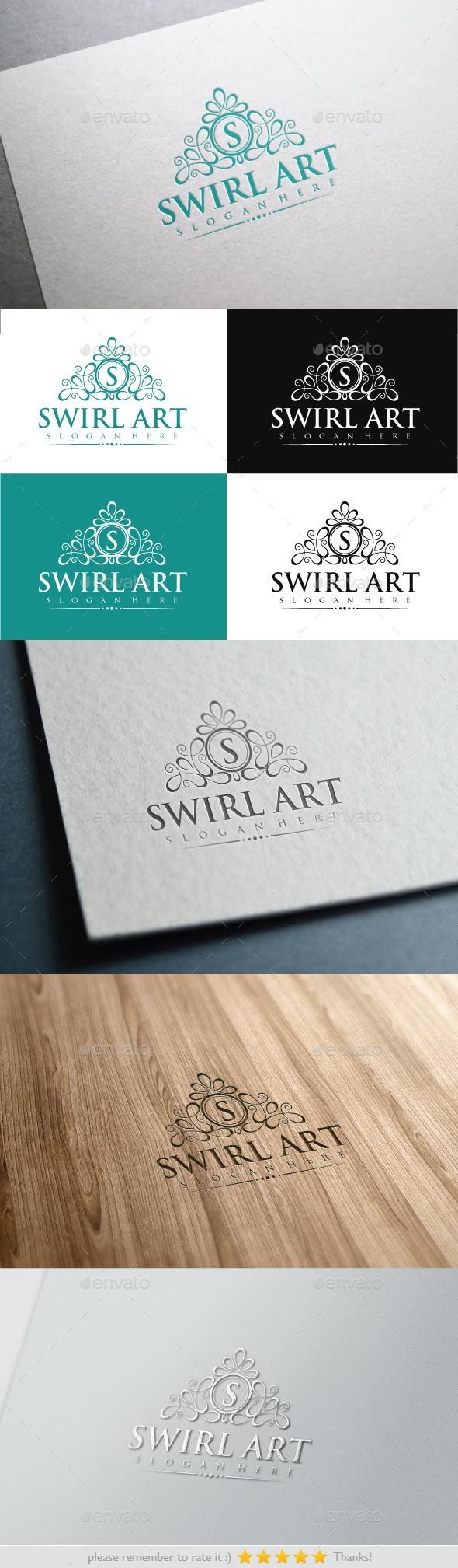 Swirl Art - Crests Logo Templates