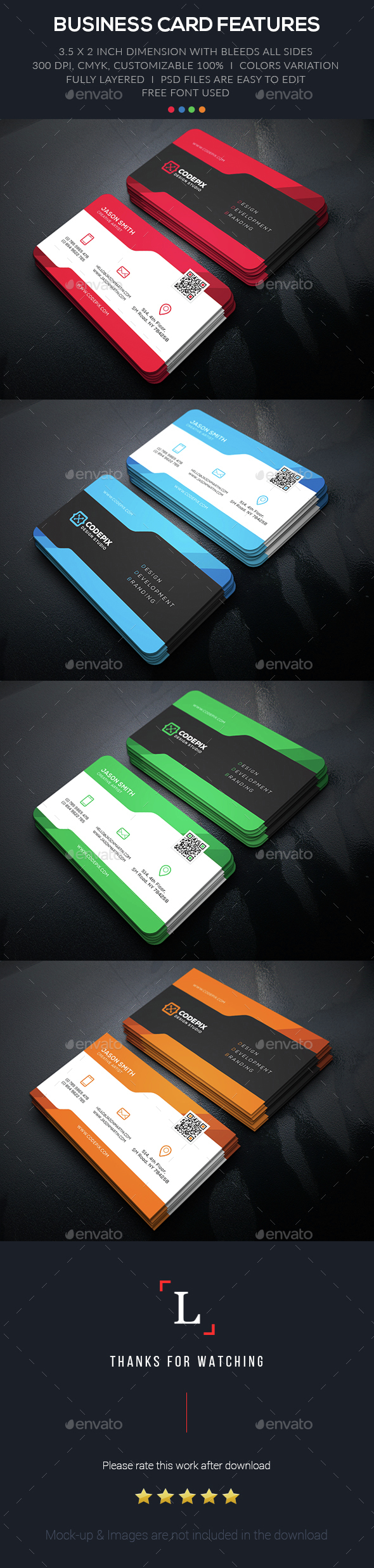 Design Corporate Business Card - Business Cards Print Templates