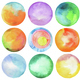 Set of circle watercolor. - PhotoDune Item for Sale