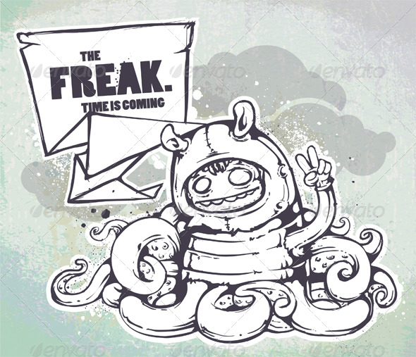Hand Drawn Freak - Characters Vectors