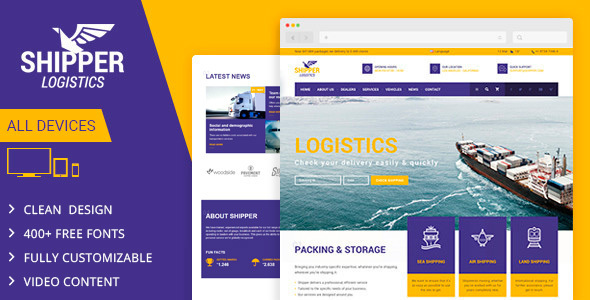 Shipper Logistic – Transportation Muse Template