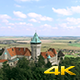 Aerial Fly Over Castle Tower - VideoHive Item for Sale
