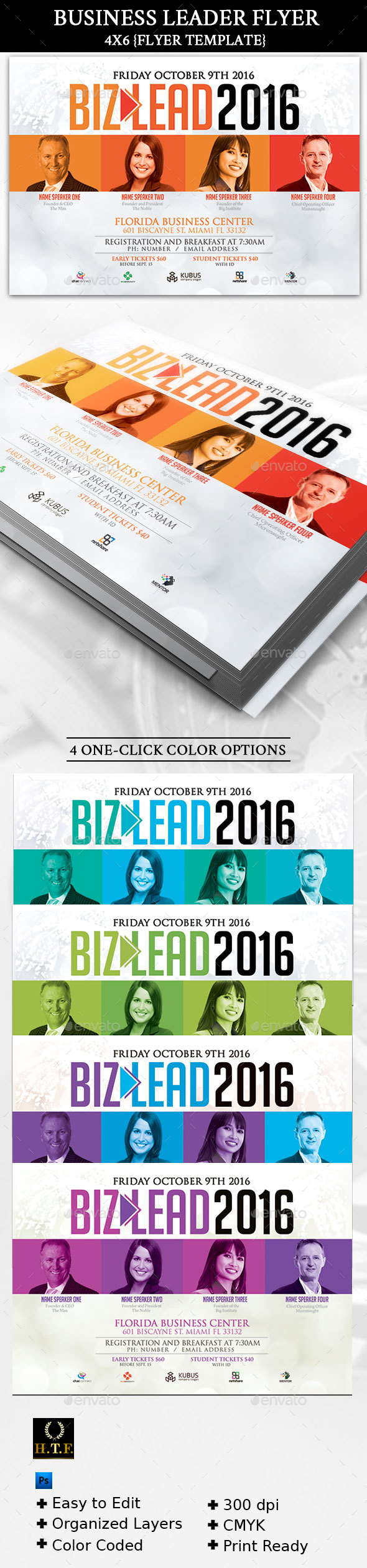 Business Leader Flyer Template - Corporate Flyers