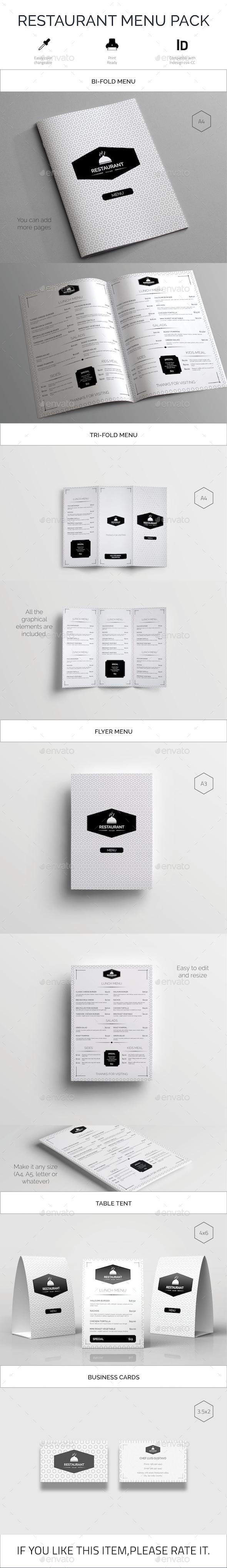 Restaurant Food Menu Pack - Food Menus Print Templates