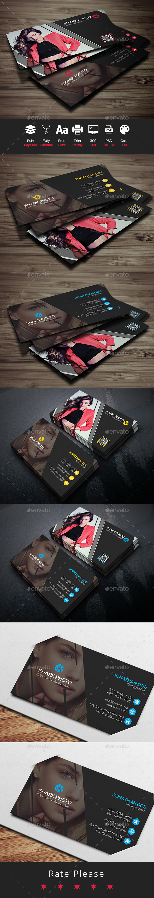 Photography Card - Business Cards Print Templates