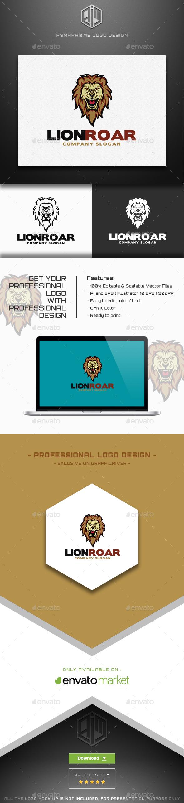 Lion Roar - Animals Logo Templates