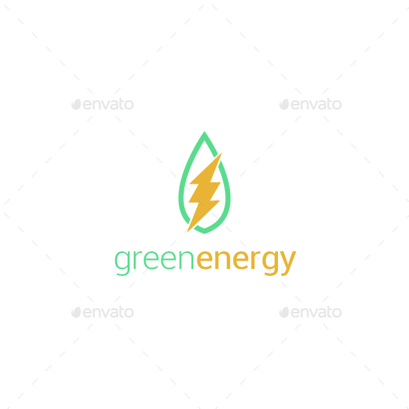 Green Energy Logo Template By Blinvarfi Graphicriver