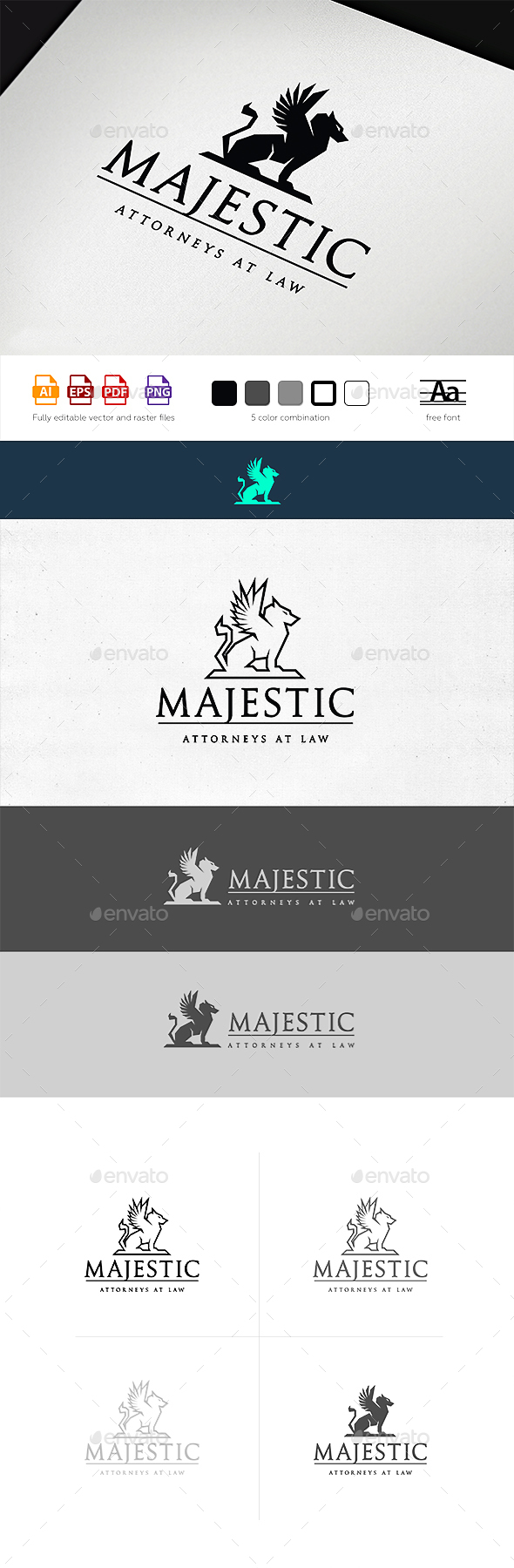 Majestic Law Logo Template - Crests Logo Templates