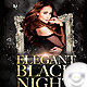 Flyer Elegant Black Night - Birthday - GraphicRiver Item for Sale