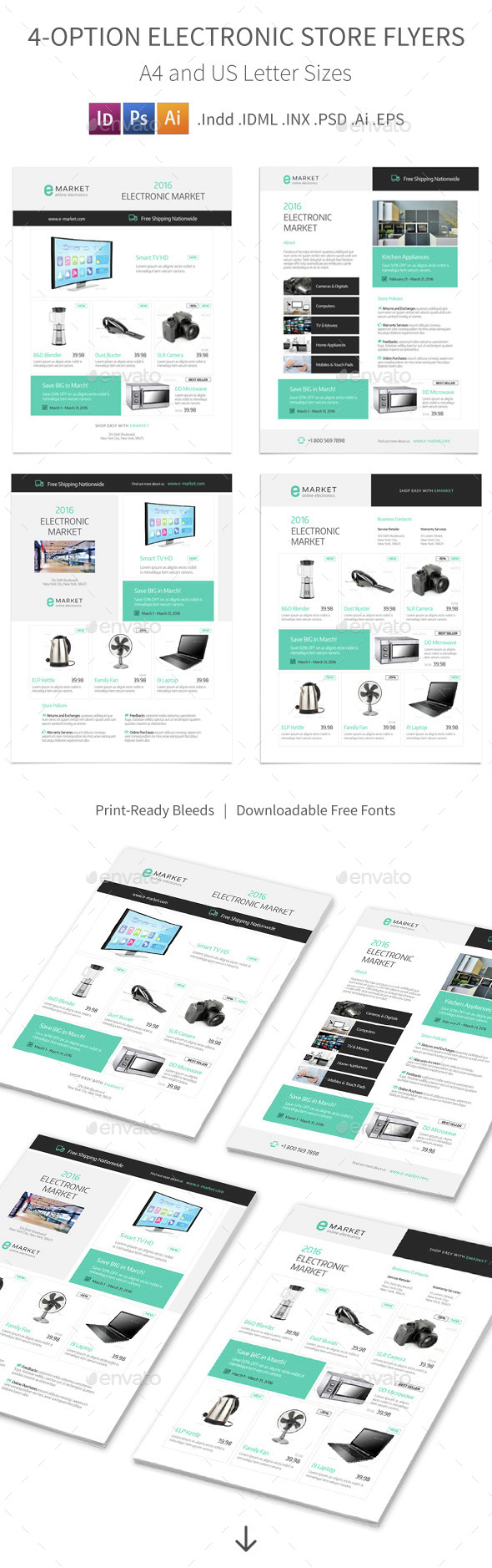 Electronic Store Flyers – 4 Options - Corporate Flyers