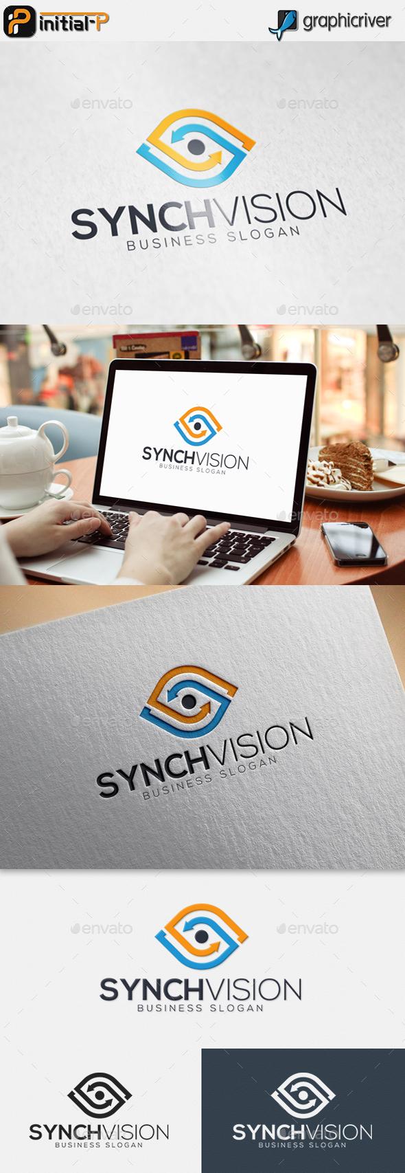 Synch Vision - Eye Logo - Vector Abstract