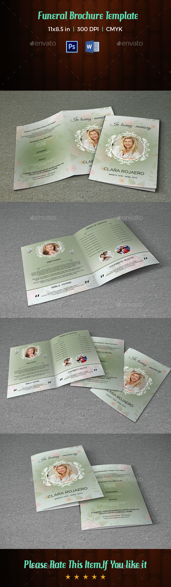 Funeral Program Template-V42 - Informational Brochures