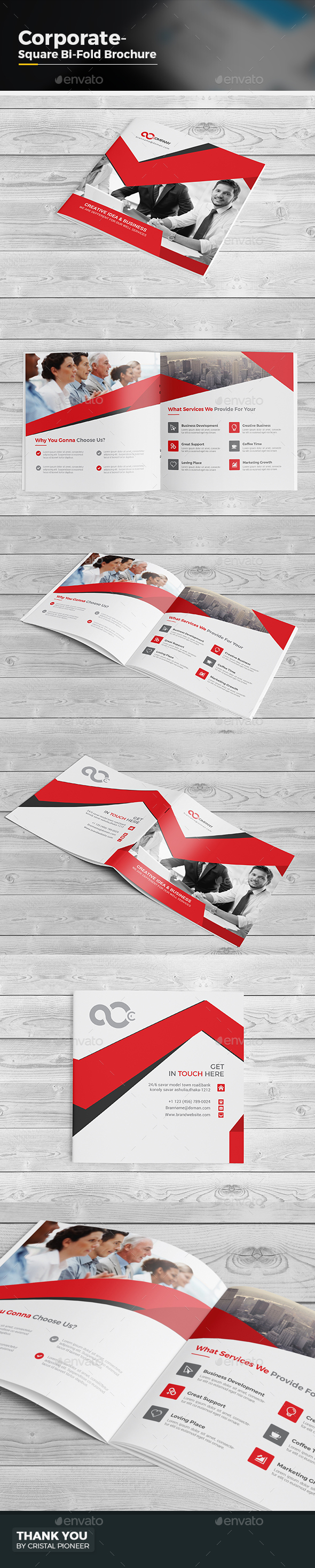Square Bi Fold Brochure - Corporate Brochures