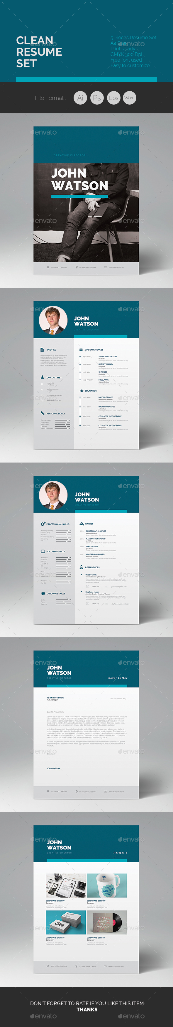 Clean Resume 04 - Resumes Stationery