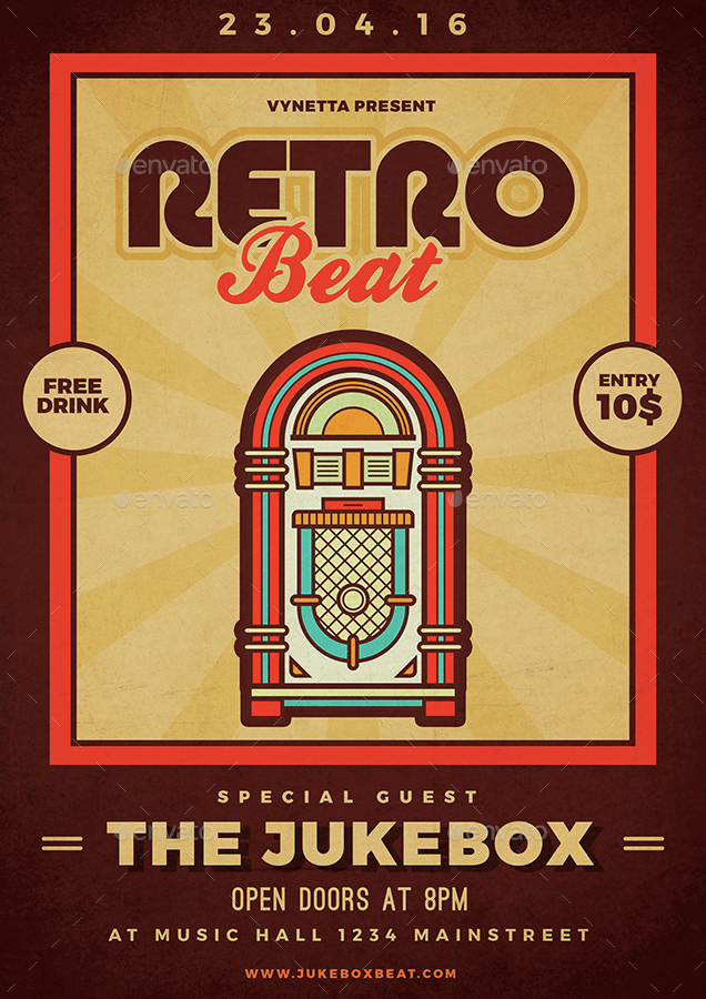 Retro Beat Poster / Flyer by vynetta | GraphicRiver