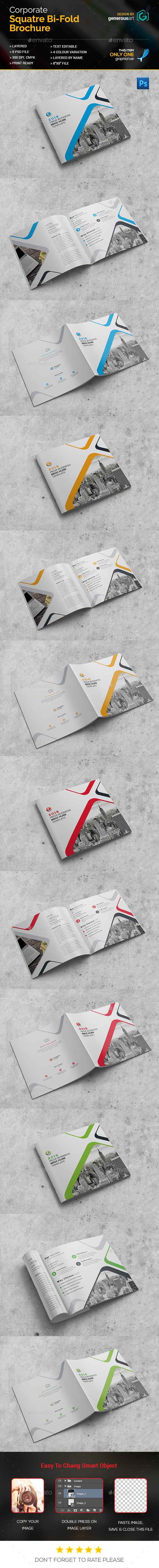 Pro Square Bi-Fold Brochure - Corporate Brochures