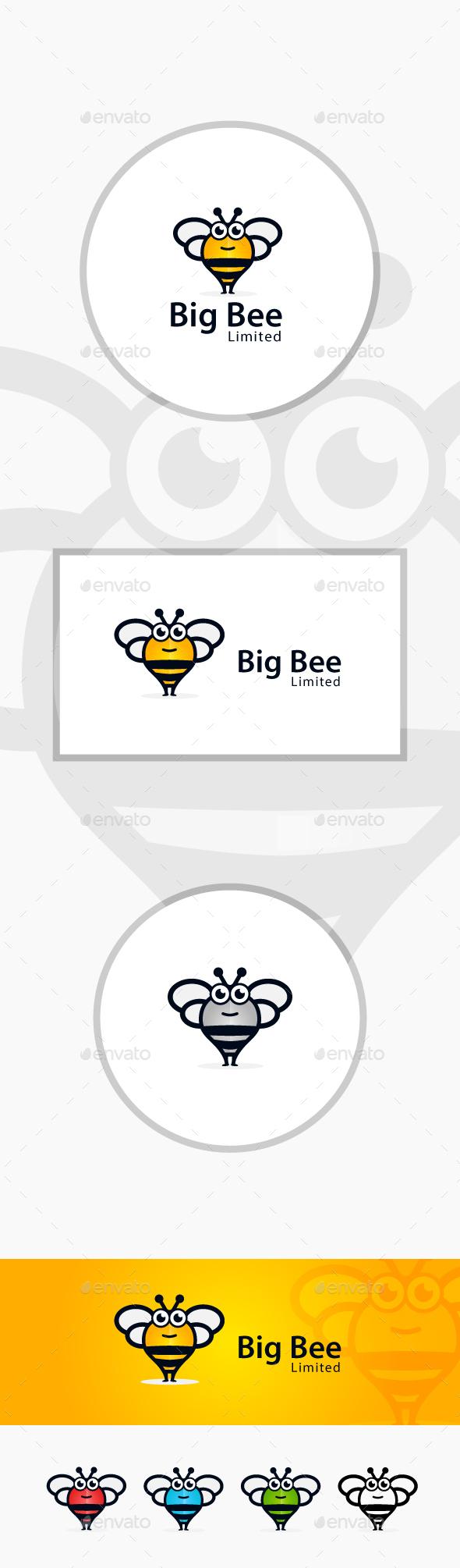 Big Bee Logo - Animals Logo Templates