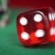 Red Dice Rotation And Casino Chips On Green Felt - VideoHive Item for Sale