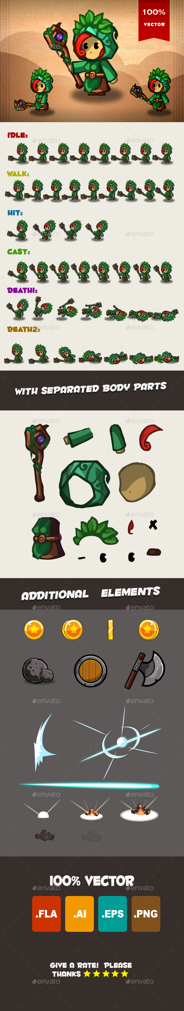 Cleric Spritesheet 02 - Sprites Game Assets
